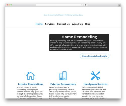 Divi theme WordPress - roofingcontractorcompany.com