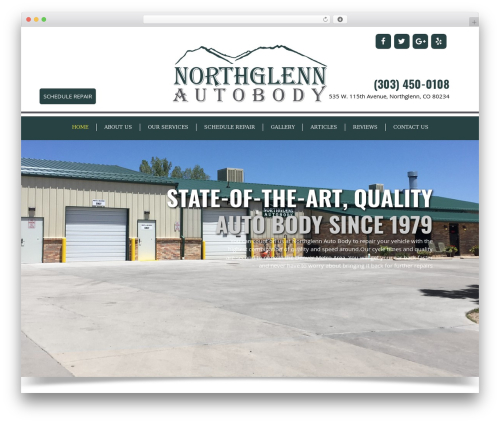 GeneratePress best free WordPress theme - northglennautobody.com