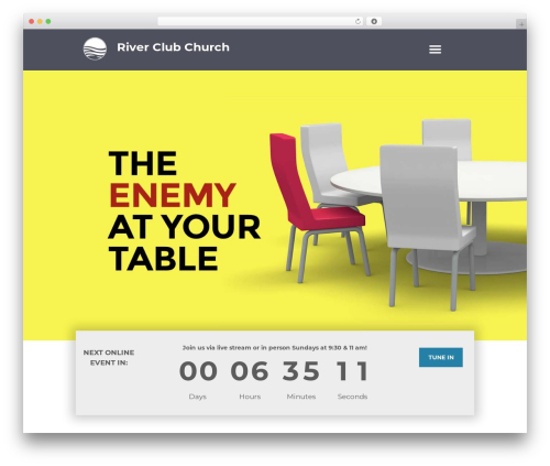 Grace-church WordPress theme - riverclubchurch.com