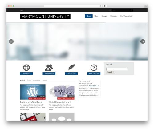 WordPress theme WildCommunity - commons.marymount.edu