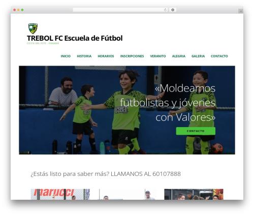 WordPress website template Ascension - trebolfutbolclub.com
