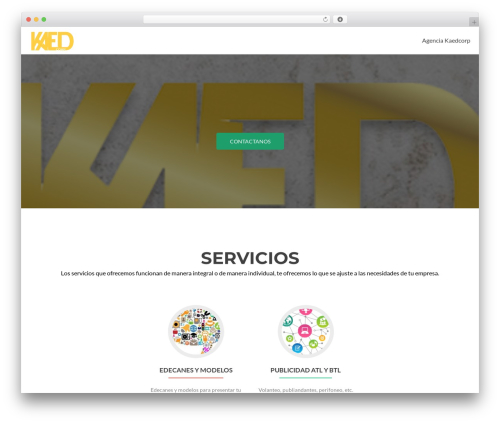 Zerif Lite template WordPress - kaedcorp.com