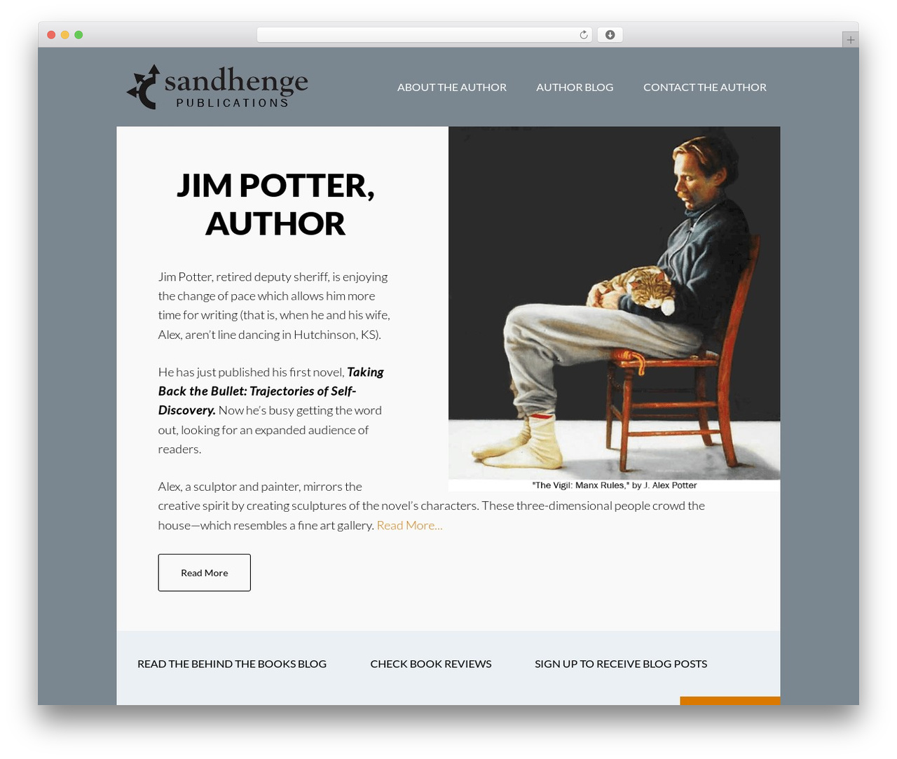 Author Pro WordPress template by StudioPress - jimpotterauthor com