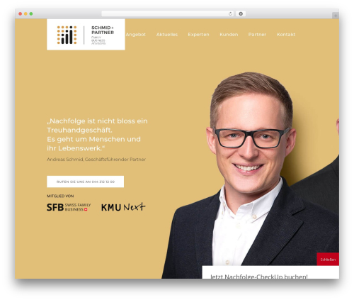 Pitch WordPress page template - schmidundpartner.com