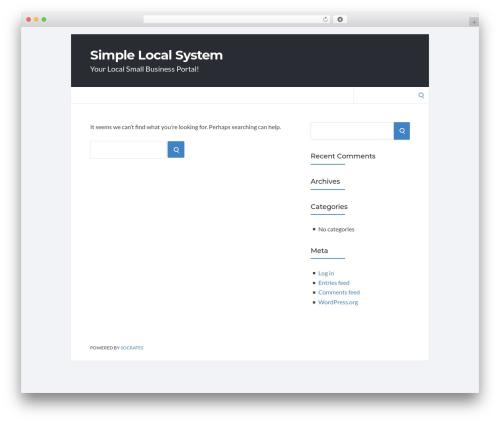 Socrates v5 WordPress theme - simplelocalsystem.com
