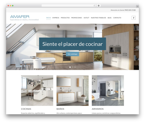 Template WordPress Chester - amafercocinas.com