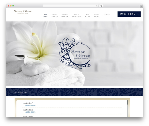 WordPress theme AGENT - sense-ginza.com