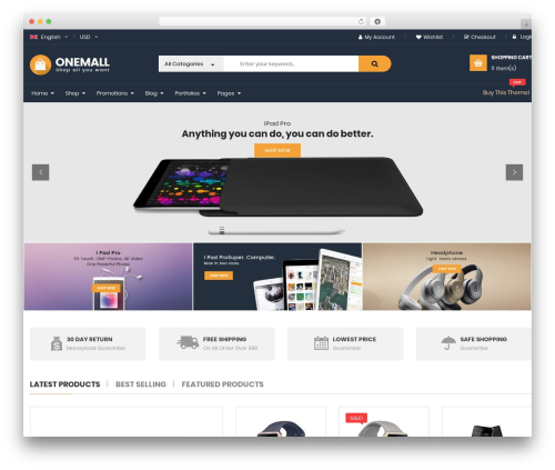 Best WordPress theme OneMall - jewelchoise.com