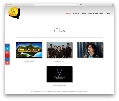 Divi template WordPress - acrmanagement.com