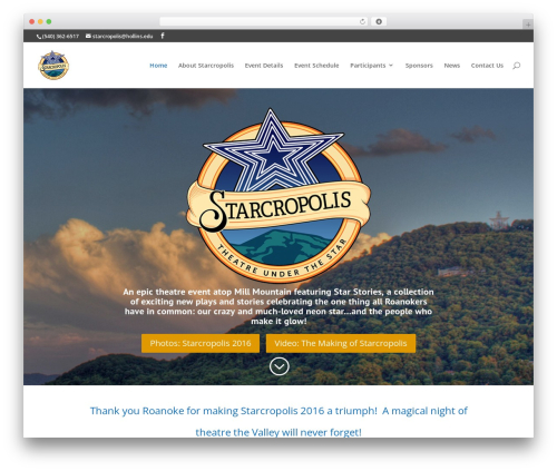 Divi WordPress theme - starcropolis.com