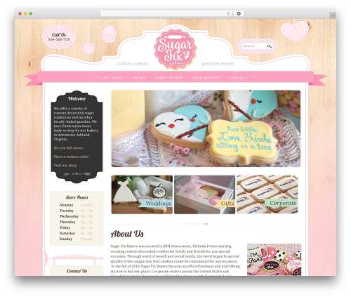 Boutique Kids WordPress template - sugarfixbakery.com