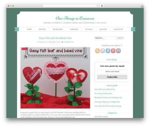 Sugar and Spice WordPress website template - ourthingsincommon.com