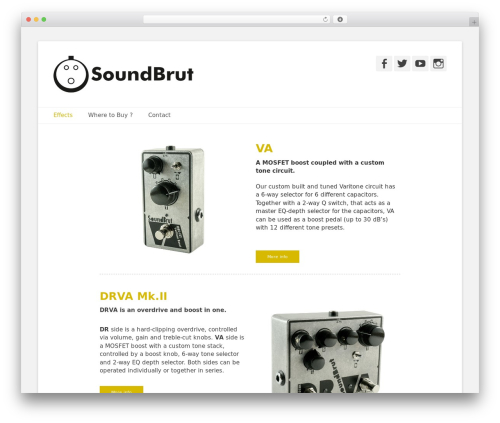 Theme WordPress Catch Base Pro - soundbrut.com