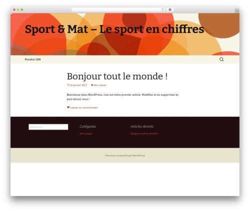 Twenty Thirteen template WordPress free - sportetmat.com