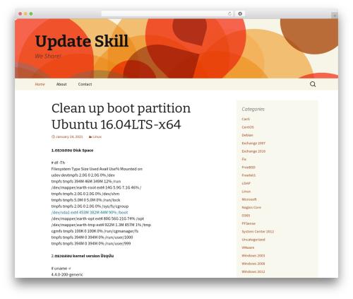 Twenty Thirteen WordPress theme - updateskill.com