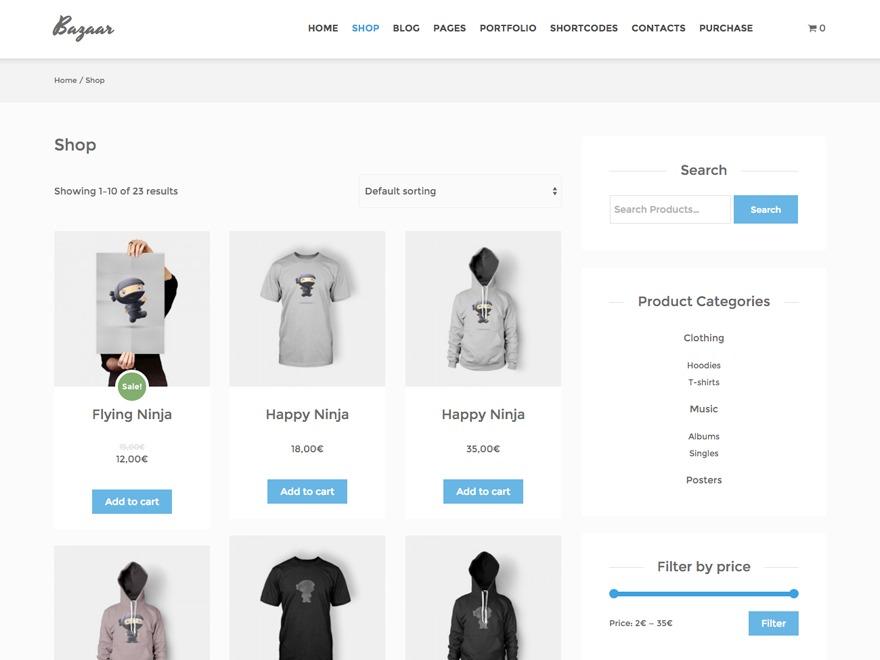Bazaar Child Saharil WordPress ecommerce theme