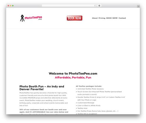 Divi theme WordPress - phototeepee.com