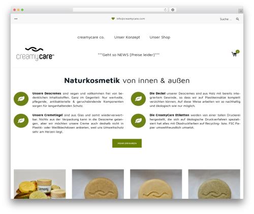 Organica WordPress ecommerce theme - creamycare.com