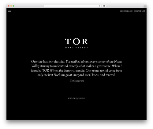 _s WordPress theme design - torwines.com