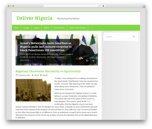 Smartline WordPress theme - delivernigeria.com