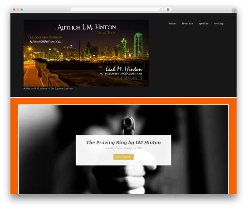 Theme WordPress BlueBird - authorlmhinton.com