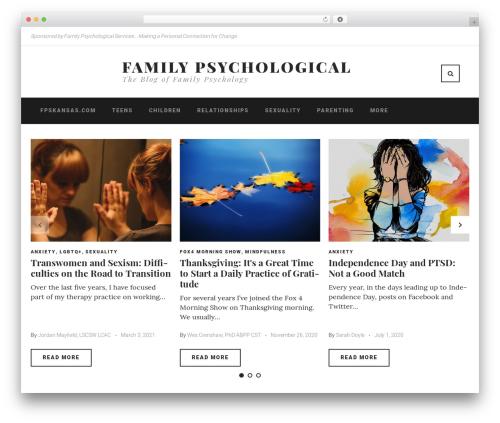 Waylard WordPress blog theme - familypsychological.com
