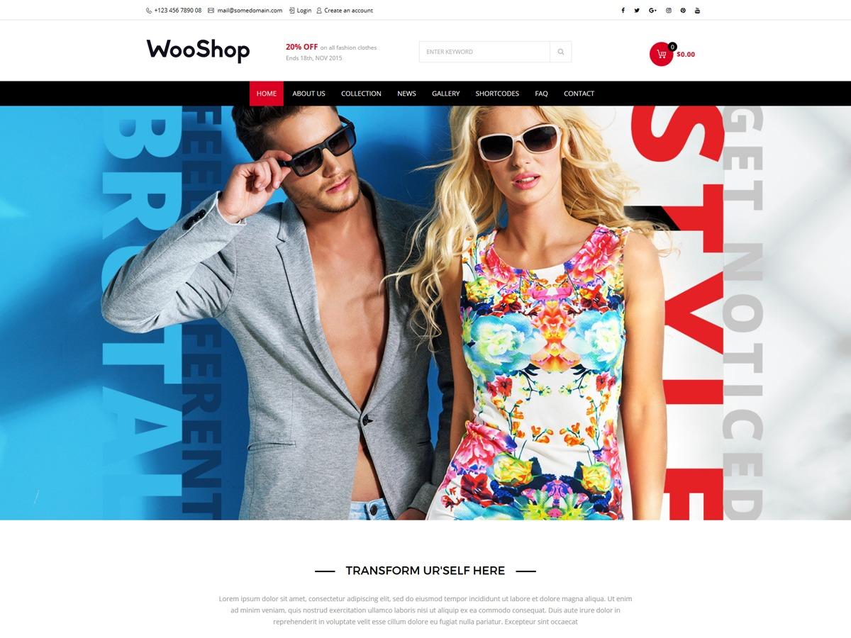 Woo Shop WordPress shopping theme