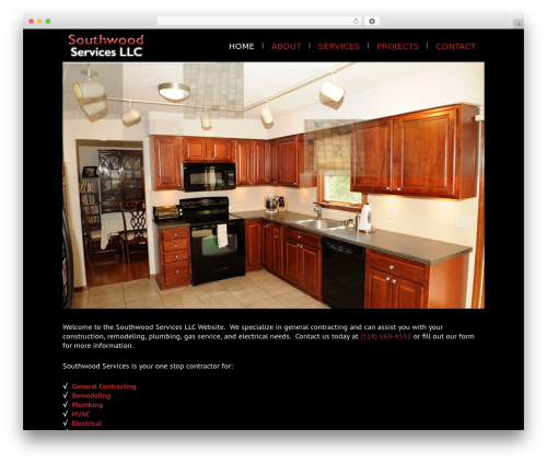 WordPress template Lounge - southwoodservices.com