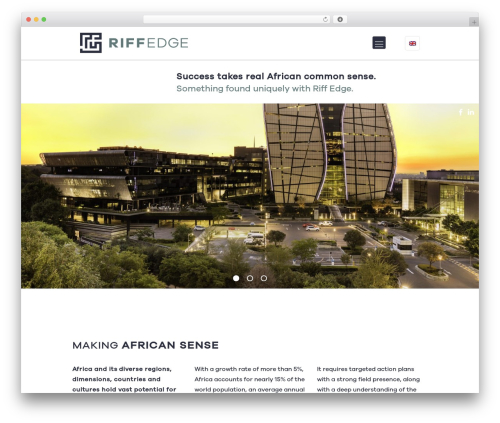 WordPress theme Betheme - riffedge.com