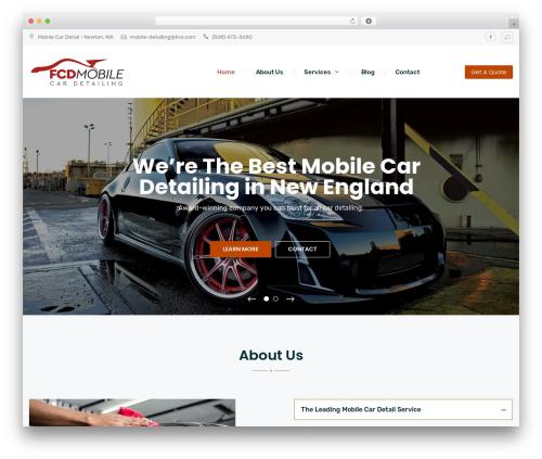 WordPress website template Multiple Business - mobilecardetail.net