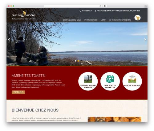 Best WordPress template SKT Coffee - crouteetbrioche.com