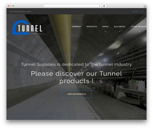Caldera WordPress page template - tunnelsupplies.com