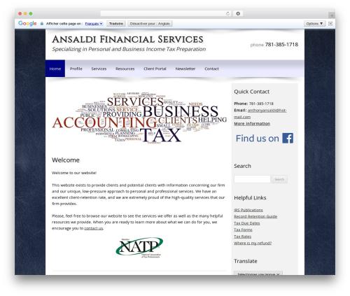 Customized business WordPress theme - ansaldifinancialservices.com