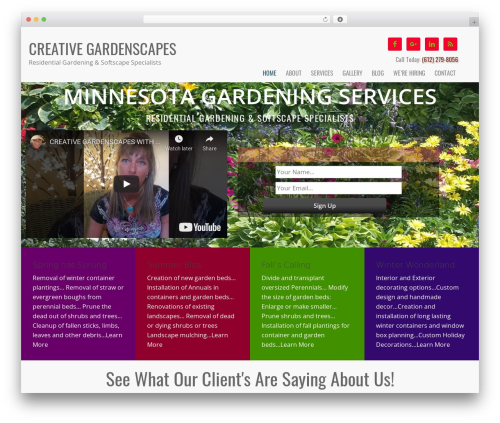 Dynamik-Gen business WordPress theme - creativegardenscapes.com