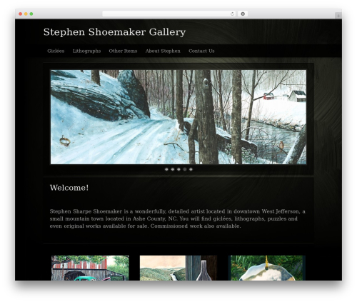 Modular WordPress template for photographers - stephenshoemaker.com