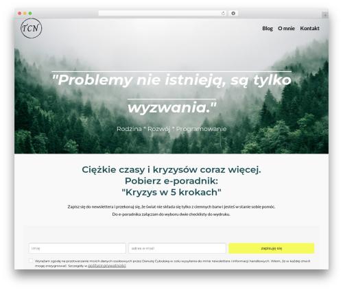 Pinnacle free WP theme - danuta-cybulska.com