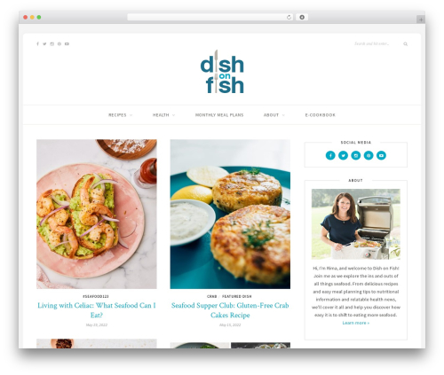 Sprout & Spoon best WordPress template - dishonfish.com