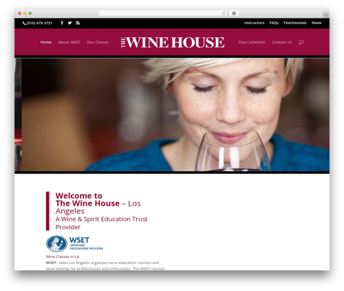 WordPress theme Divi - wineandspiriteducation.com