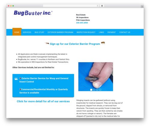 WordPress website template Modulus - bugbusterinc.com