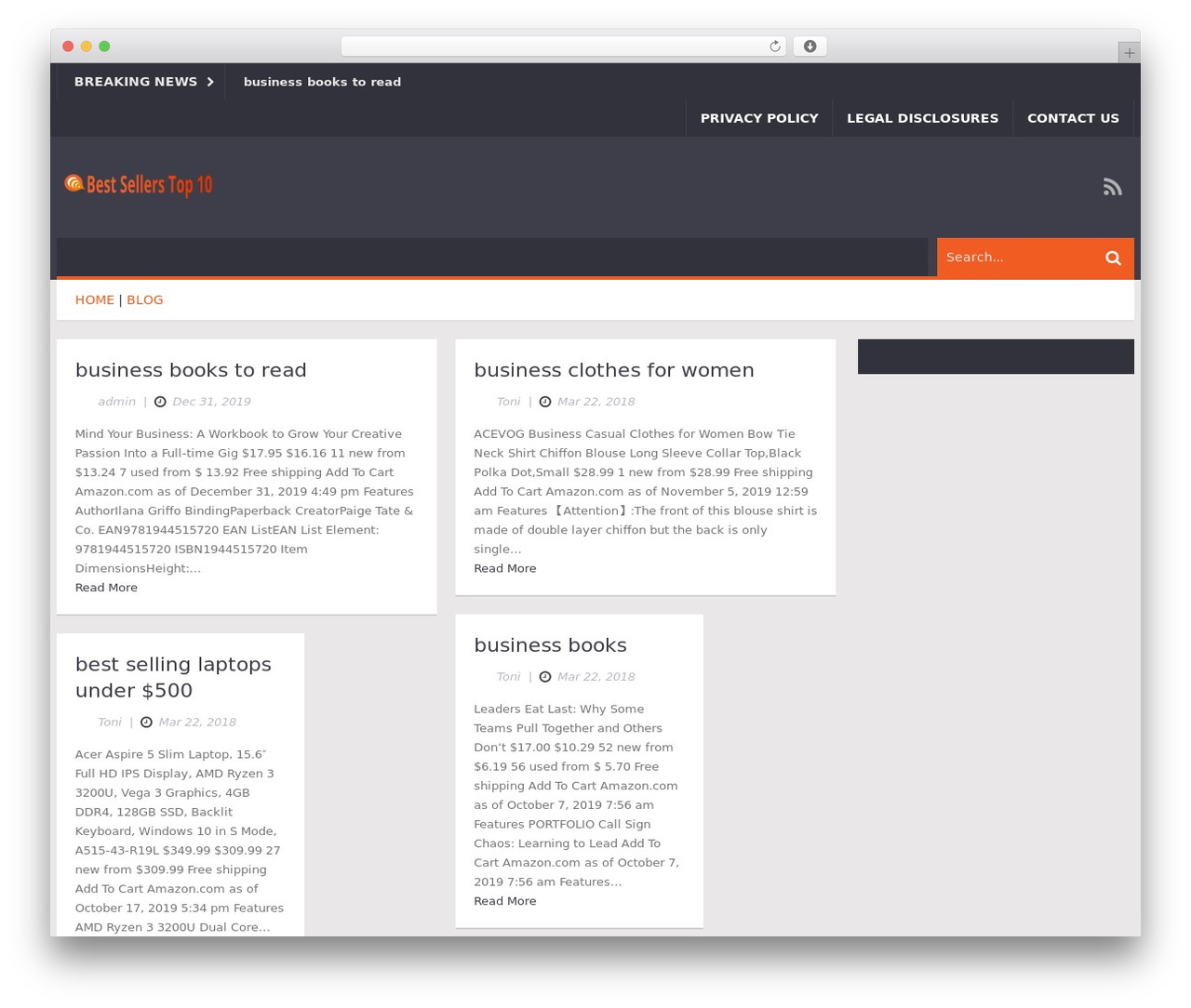 Ad Mag-Lite theme WordPress by Kopatheme - bestsellerstop10 com