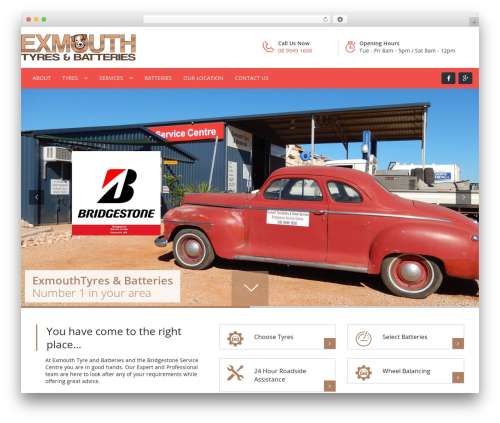 Carshire WordPress theme - exmouthtyresandbatteries.com