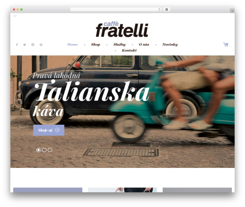 Coffeera WordPress theme - caffefratellisk.com