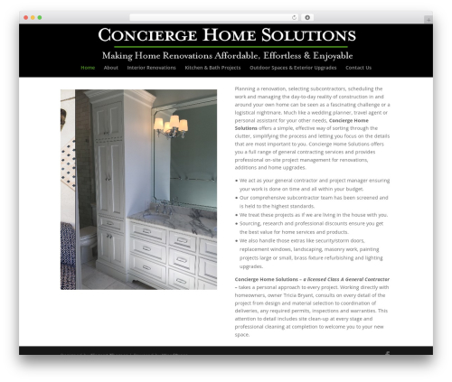 Divi template WordPress - conciergehomesolutions.com