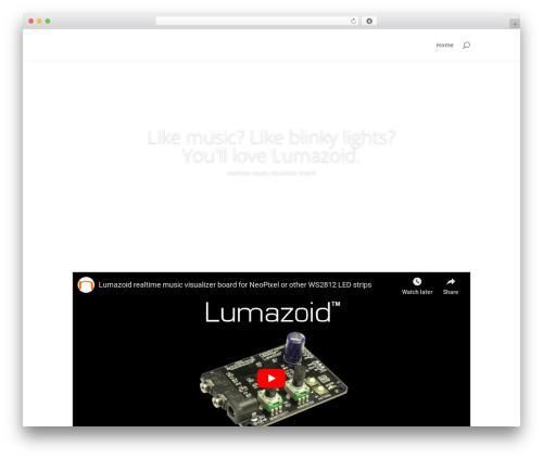 Divi WordPress theme - lumazoid.com