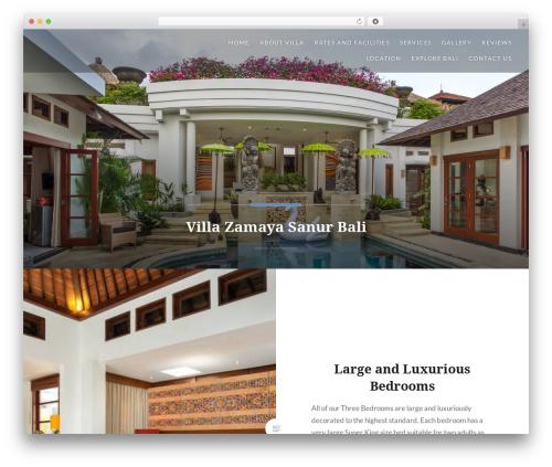 Dyad WordPress website template - villazamaya.com