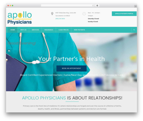 InMedical WordPress template - apollophysicians.com