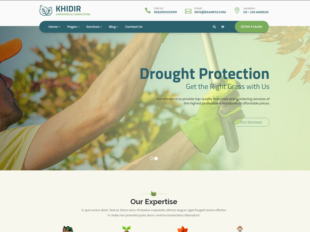 Khidir garden WordPress theme