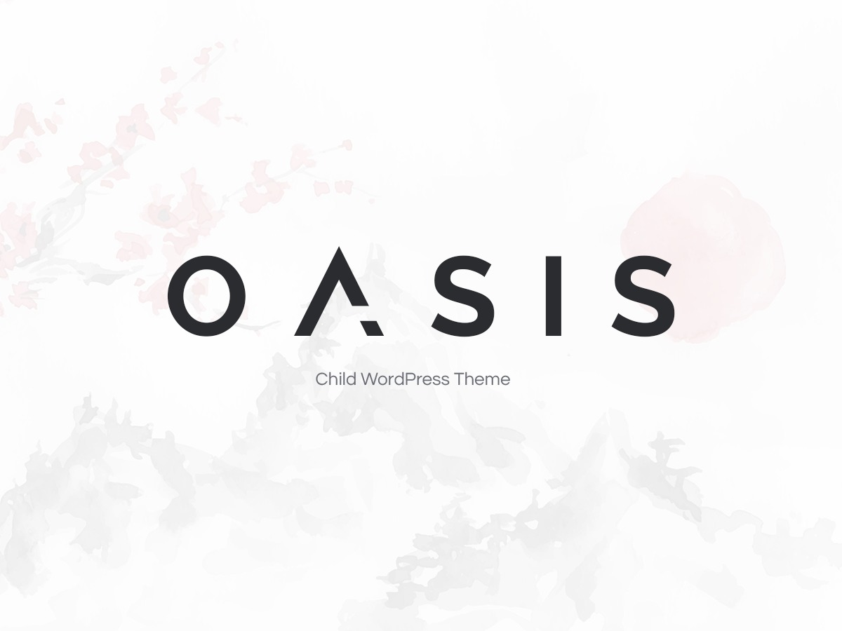 Oasis child WordPress ecommerce template