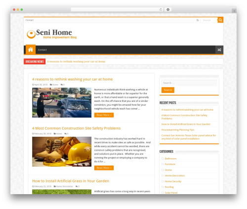 Sahifa (shared on wplocker.com) WordPress blog template - senihome.com