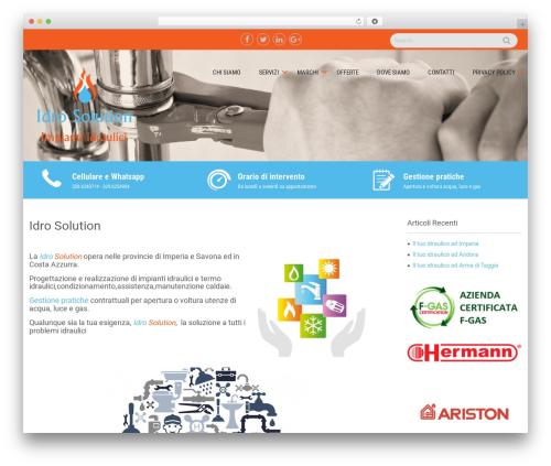 Sanitorium free WP theme - idro-solution.com